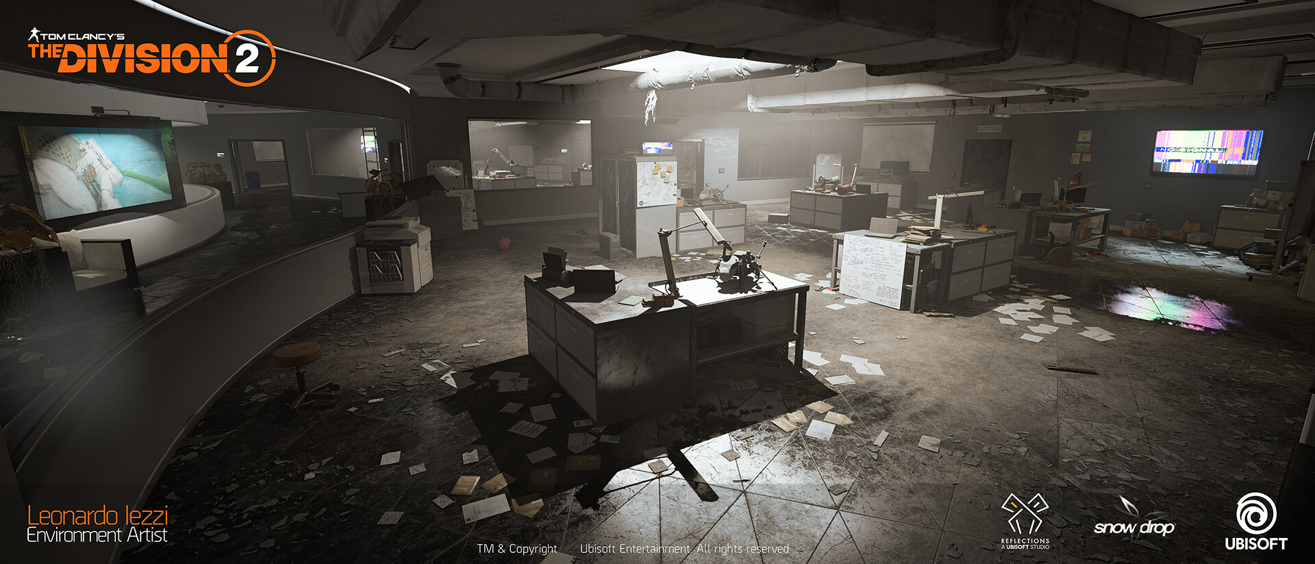 Leonardo iezzi leonardo iezzi the division 2 environment art 02 atrium 033 wide