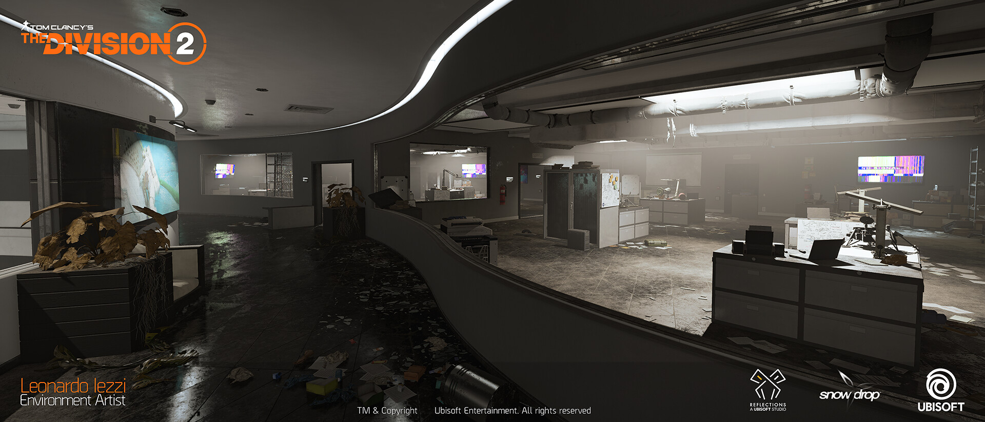Leonardo iezzi leonardo iezzi the division 2 environment art 02 atrium 034 wide