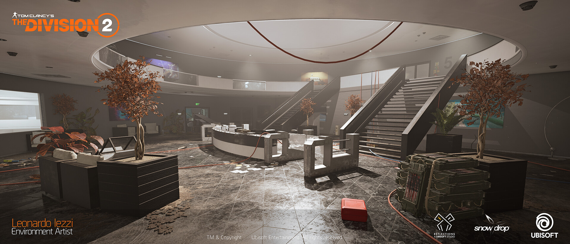 Leonardo iezzi leonardo iezzi the division 2 environment art 02 atrium 037 wide