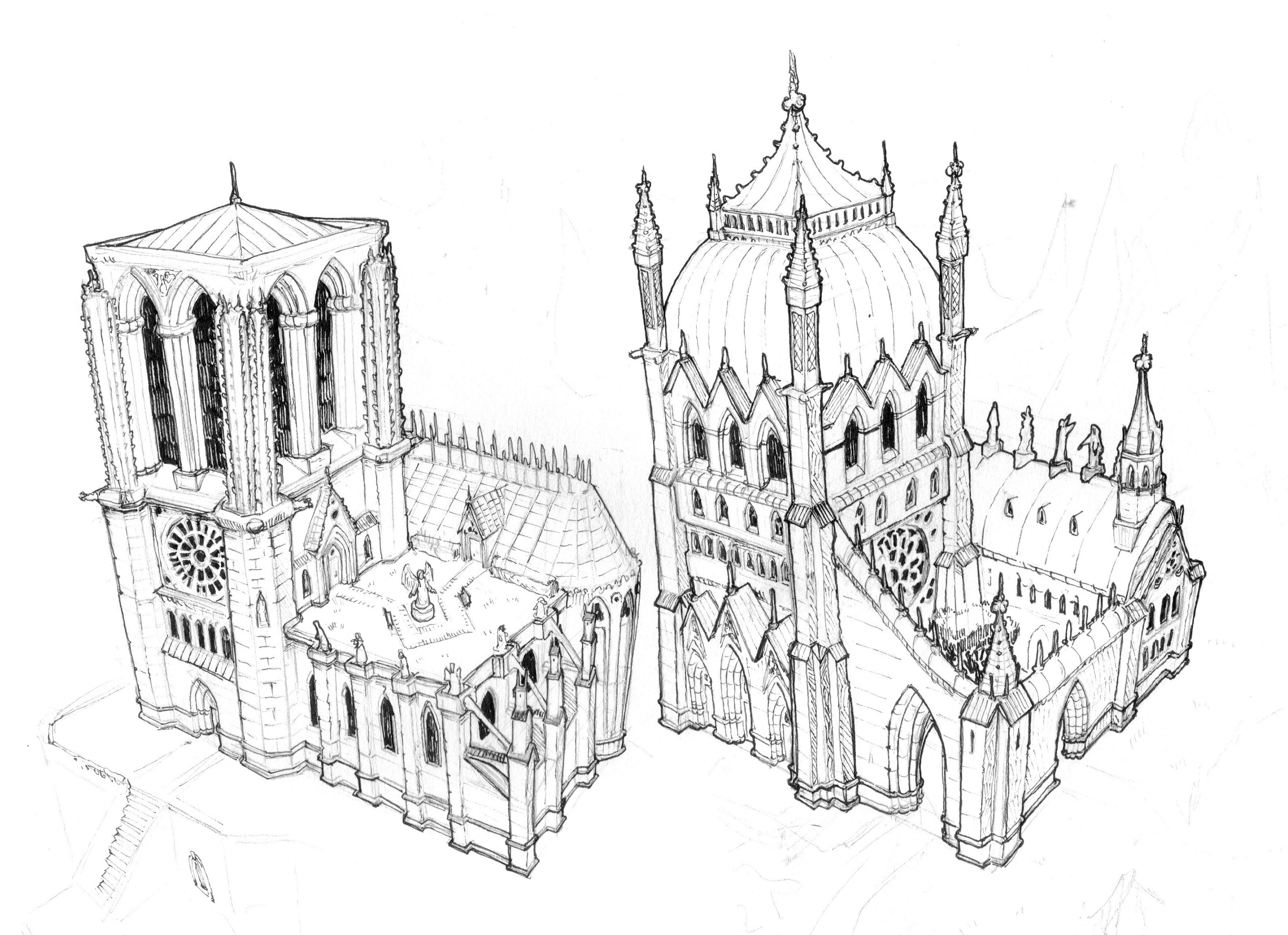 Small Cathedral Exterior Variations