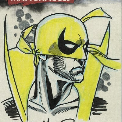 Jerome moore marvel sketchcard iron fist