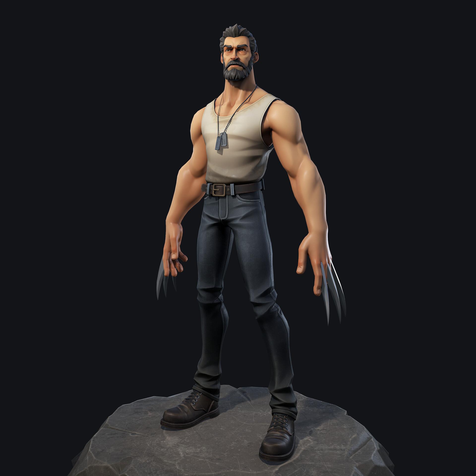 Artstation Logan Wolverine Ivan Solos