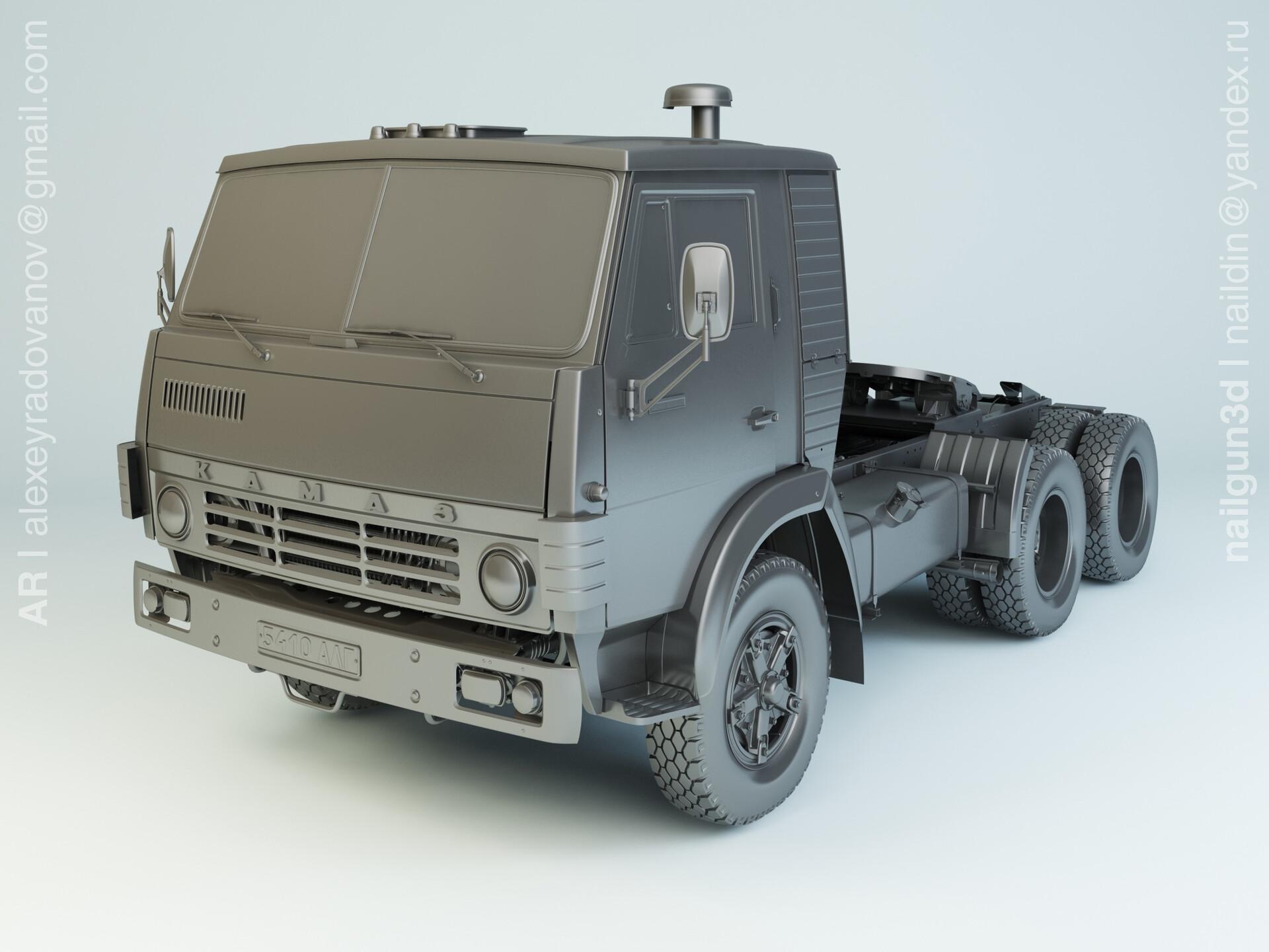 Nail khusnutdinov alg 042 002 kamaz 54112 modelling 0