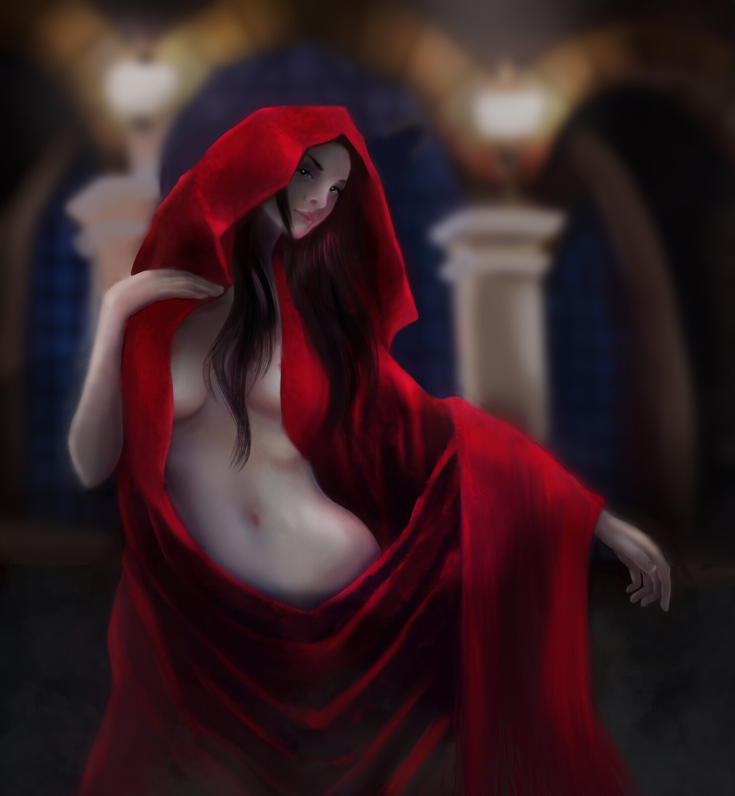Girl in the Red robe