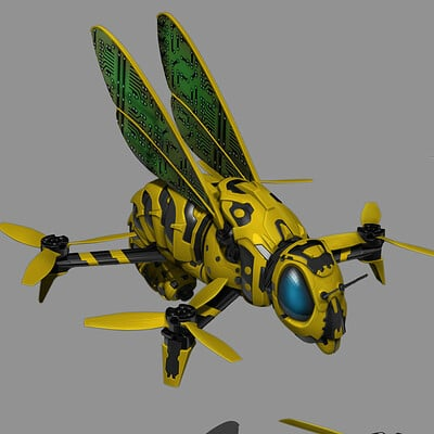 Christopher goodman man vs machine drone bee concept design