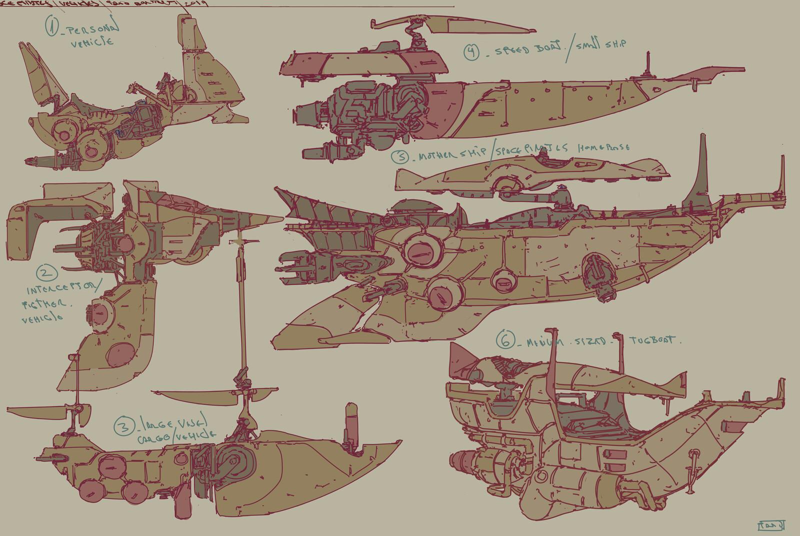 Ships concept sketches