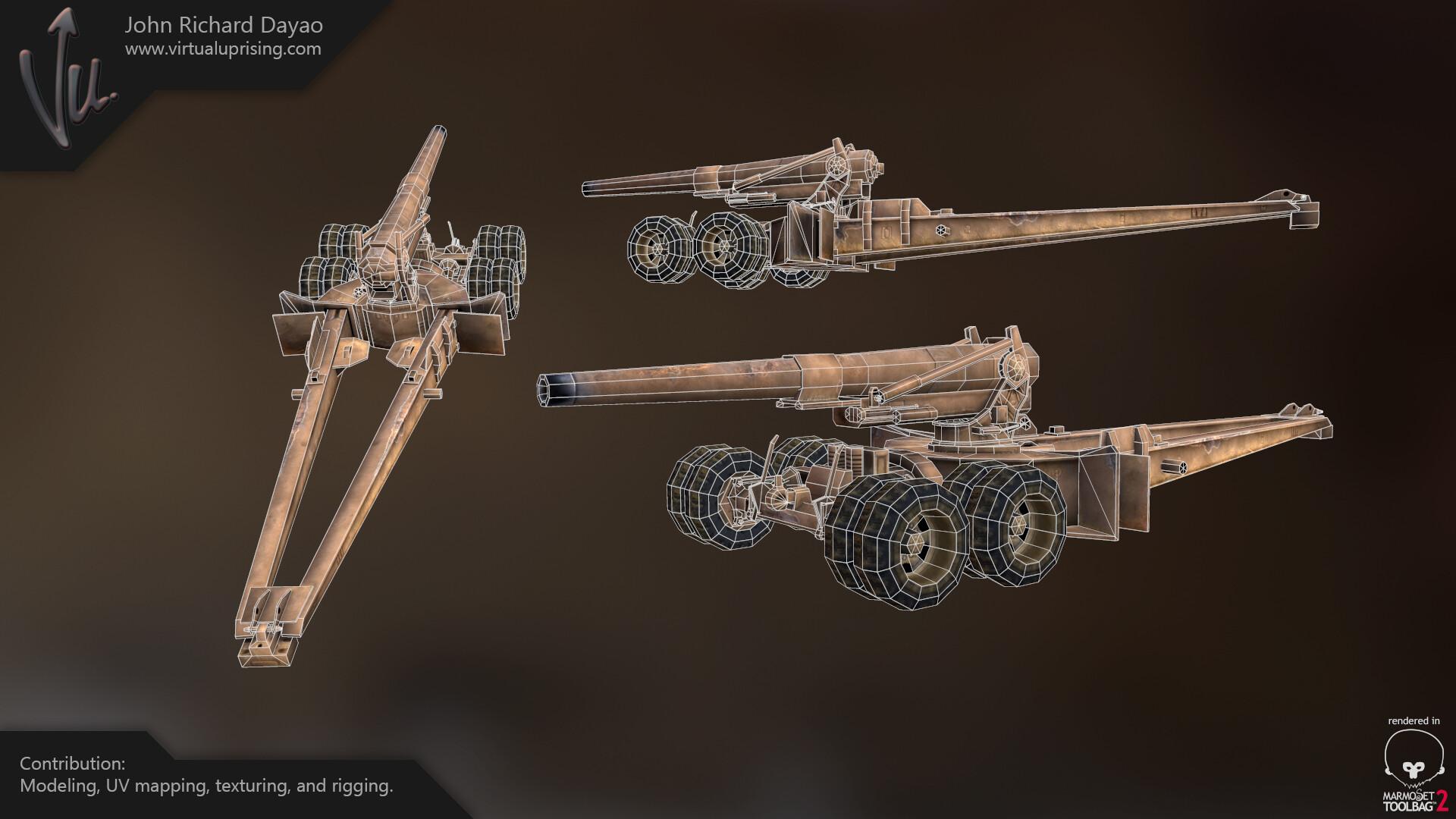 John richard dayao m115 howitzer wire