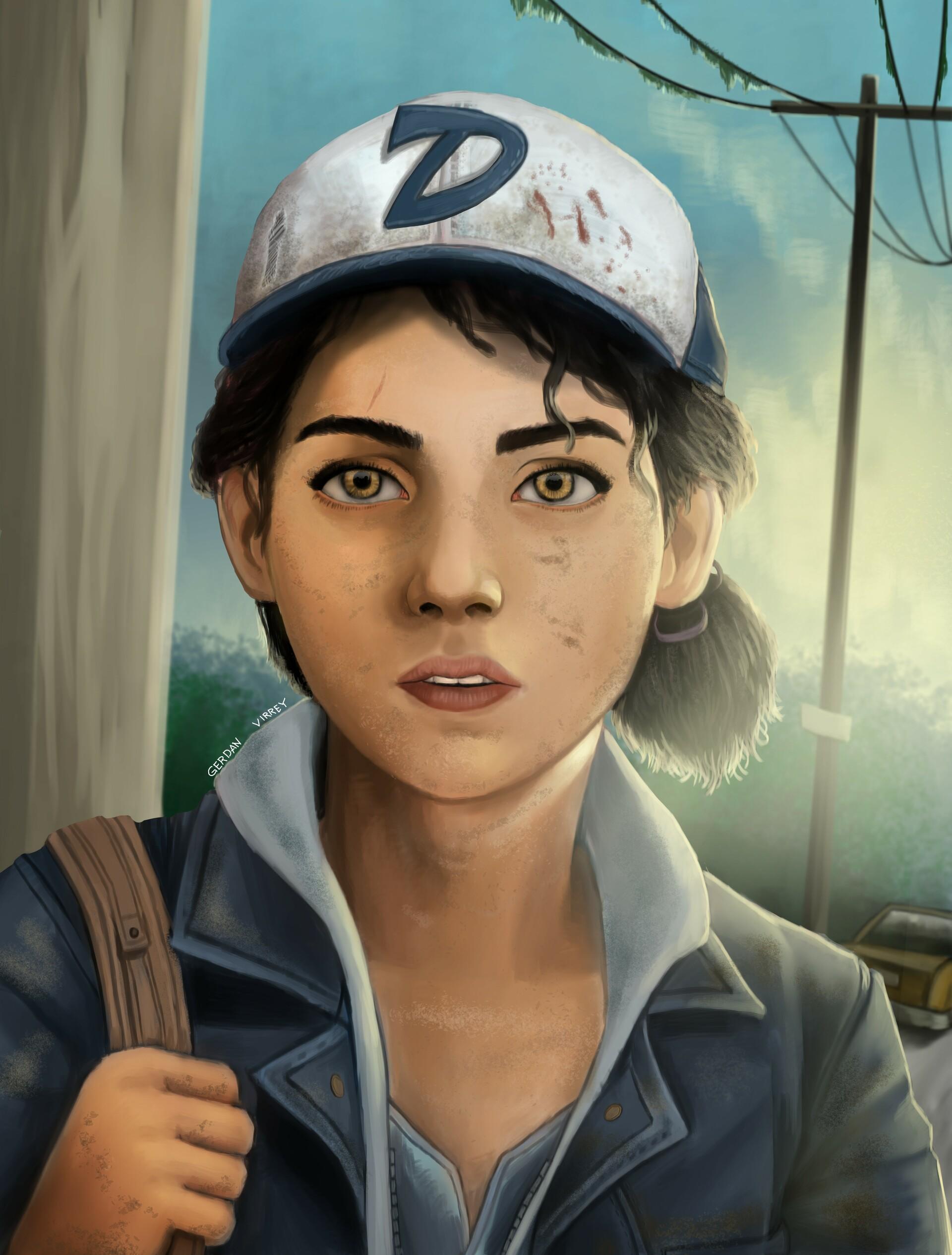Artstation The Walking Dead Final Season Clementine Fan