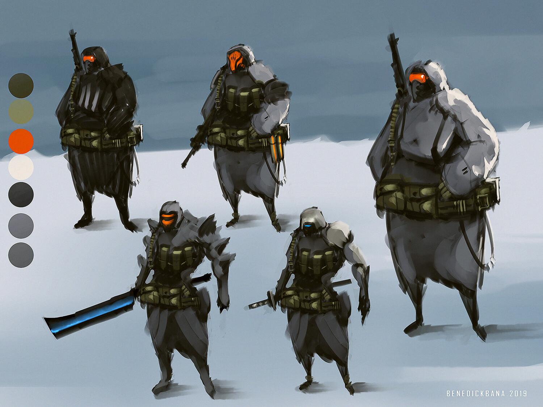 Snow Soldier design sheet