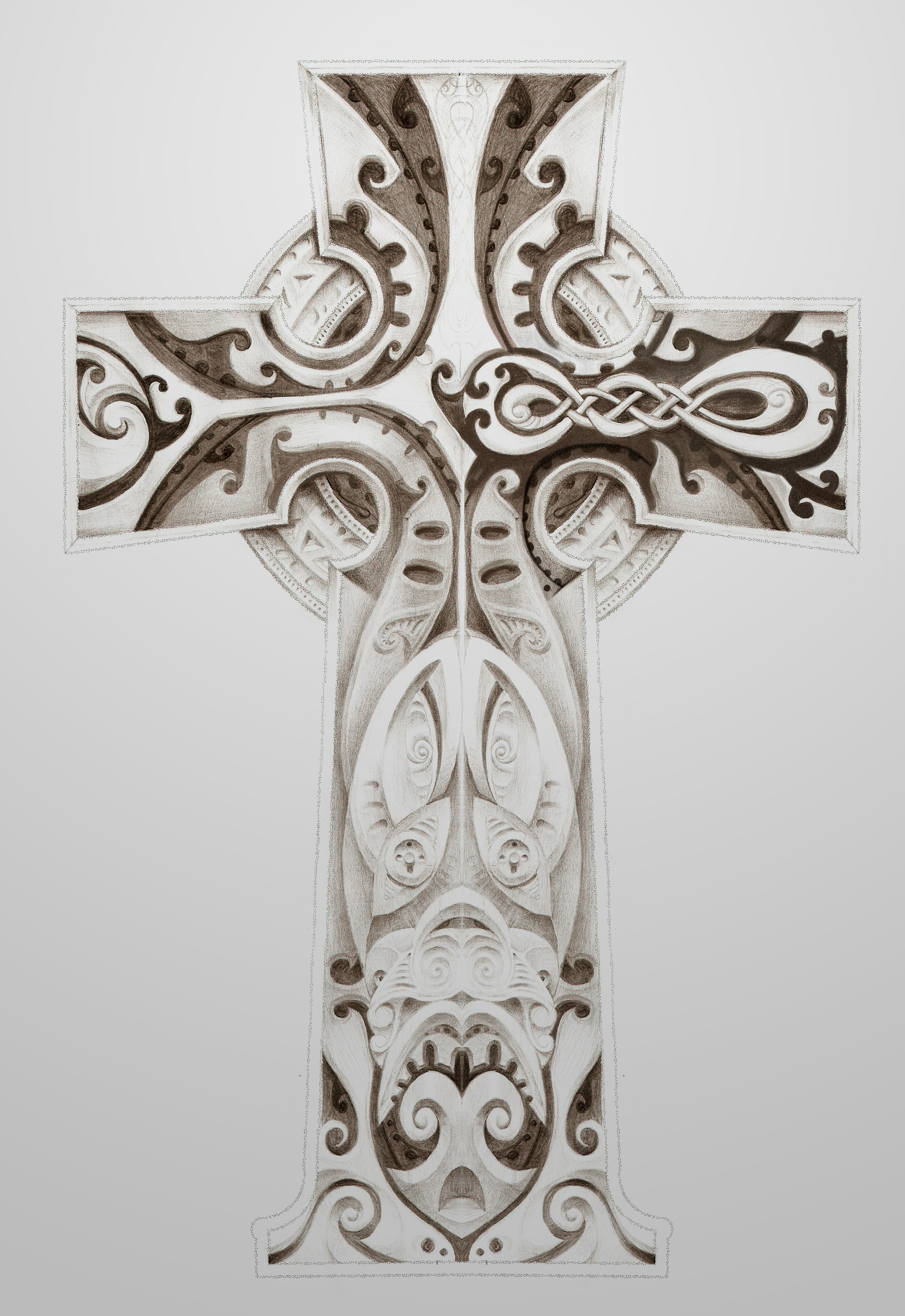 Imaginary Celtic/Maori Cross