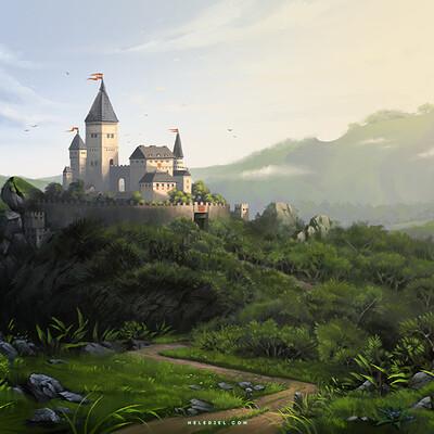 Nele diel castle in morning light