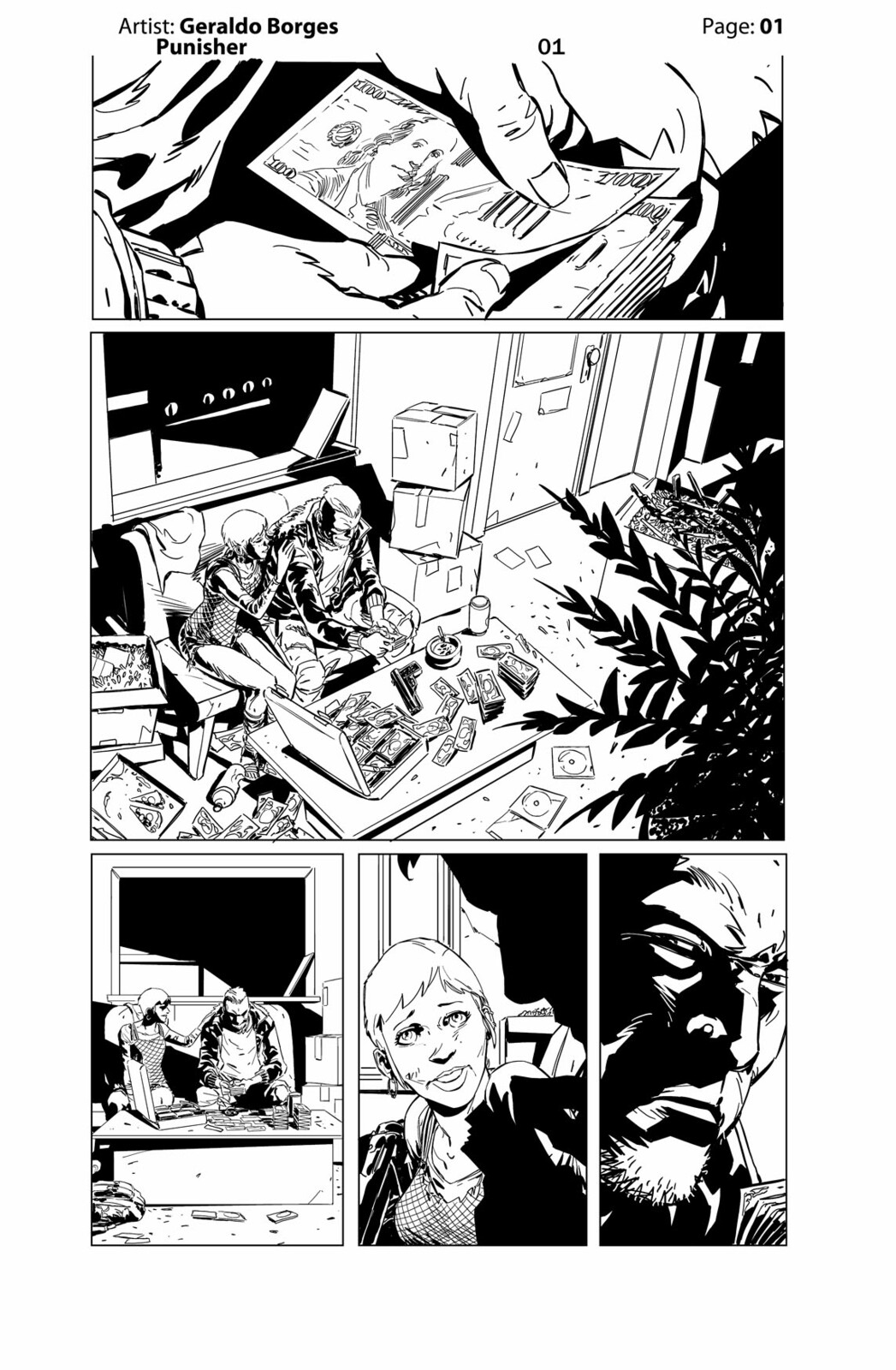 Geraldo Borges - Punisher Page 01