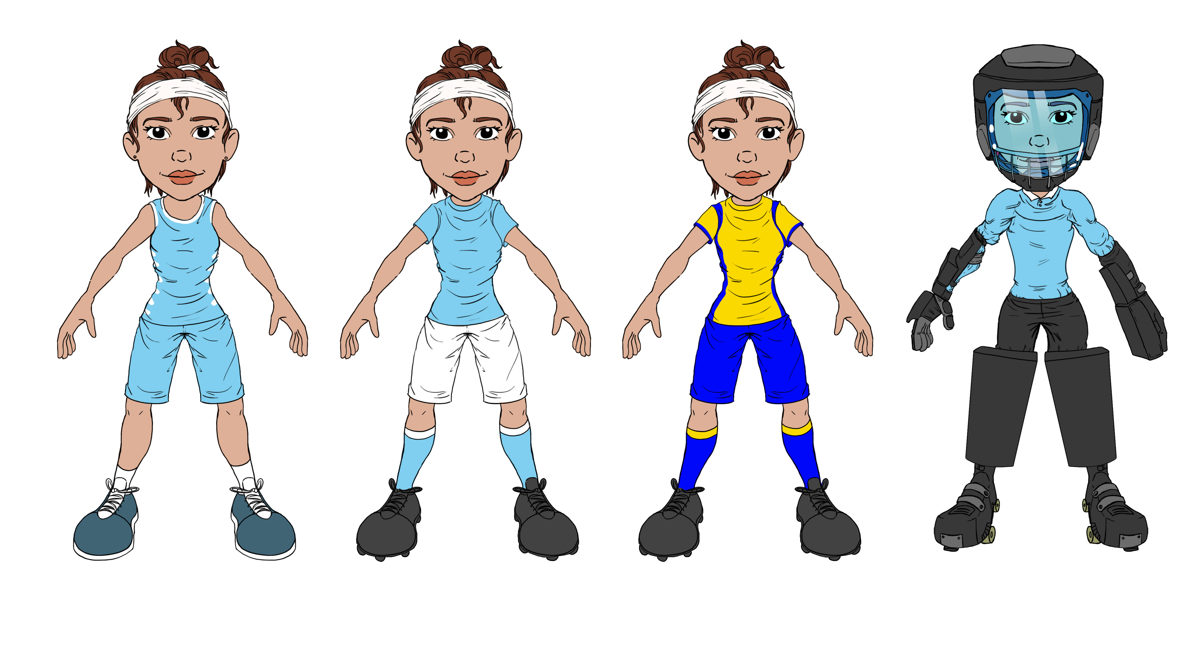 Female Character sports designs