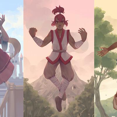 Amari low triptych