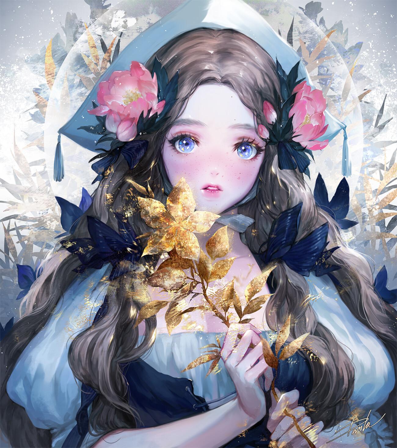 Danhu moon golden flower