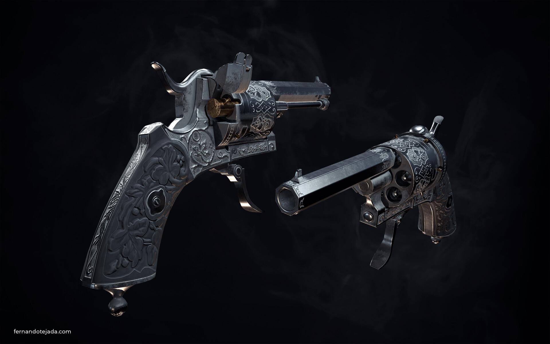 Vintage french revolver 1