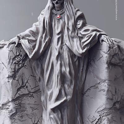 Surajit sen waiting concept digital sculpting surajitsen march2019