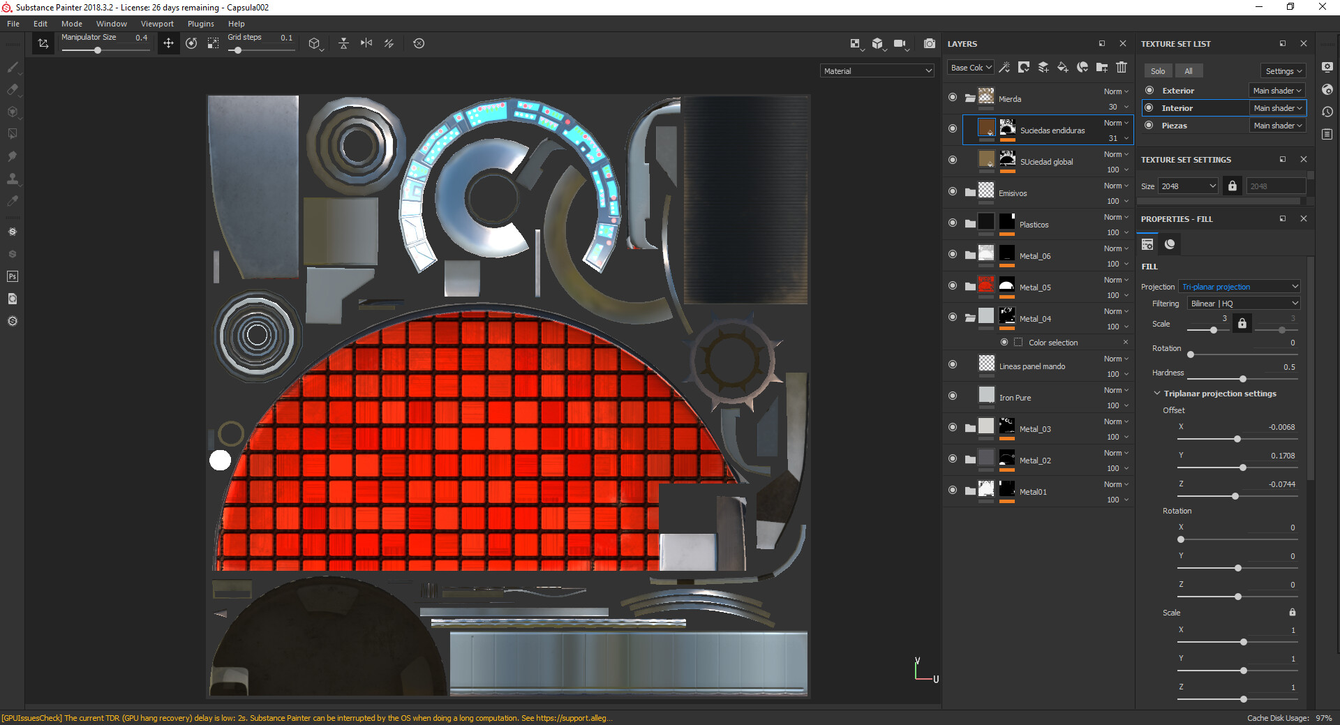 Texturizando en Substance Painter