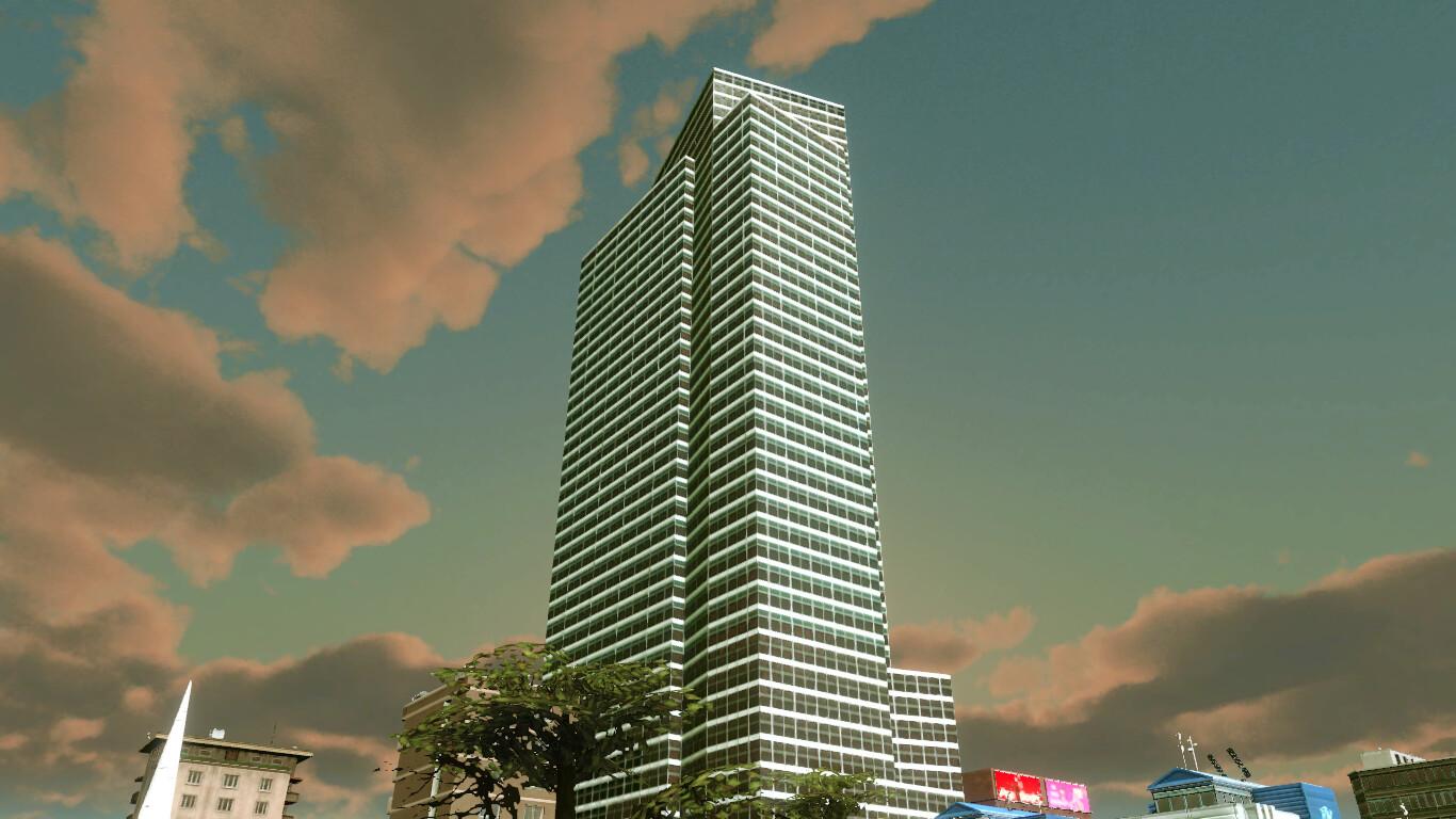 Niko Tiulpa Goldman Sach Tower Custom Asset For Cities Skylines