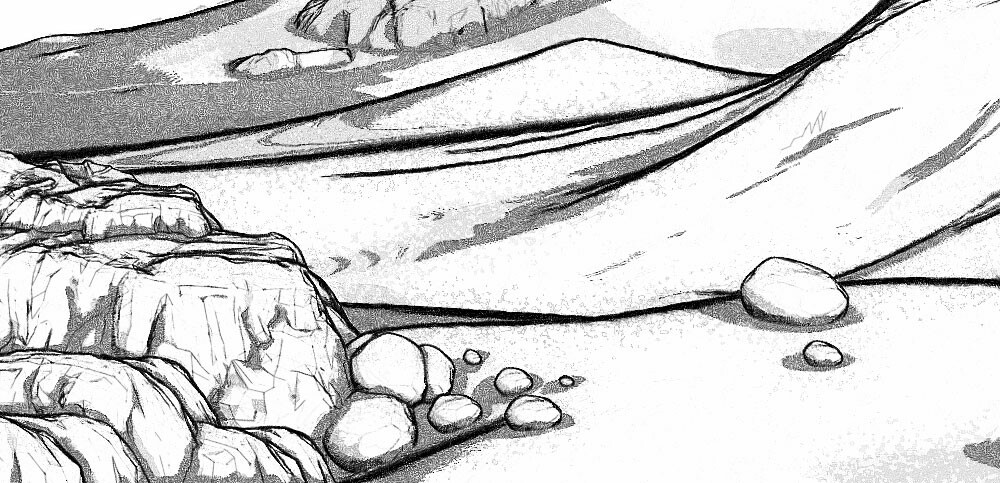 Hunter of the flying stingrays - Linework closeup 03