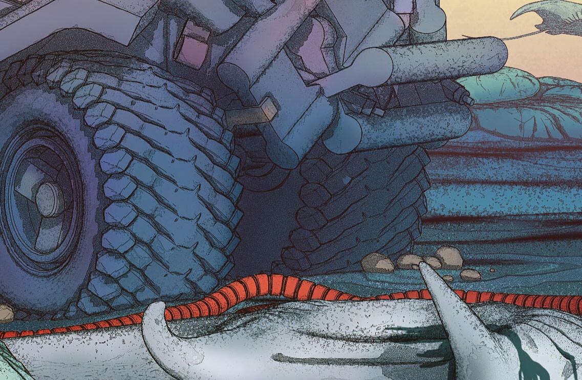 Hunter of the flying stingrays - Closeup 04