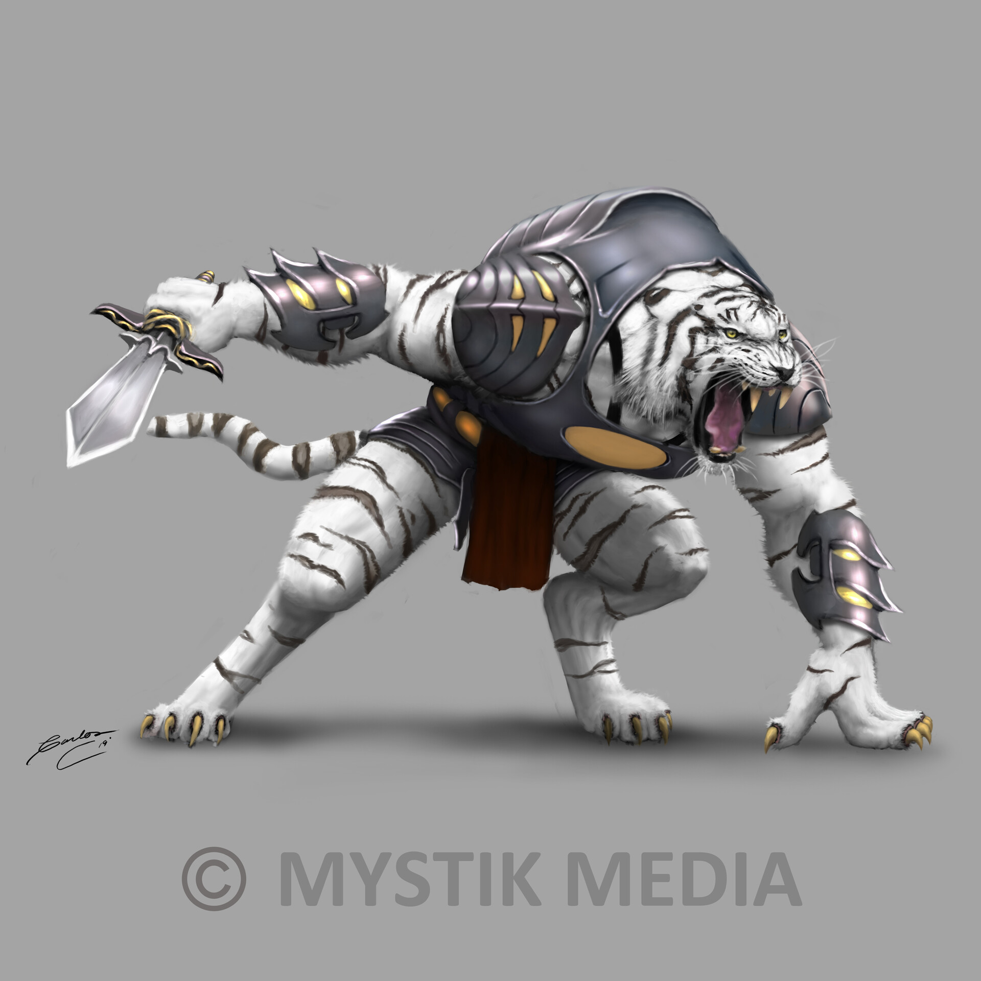 Carlos contreras white tiger warrior character