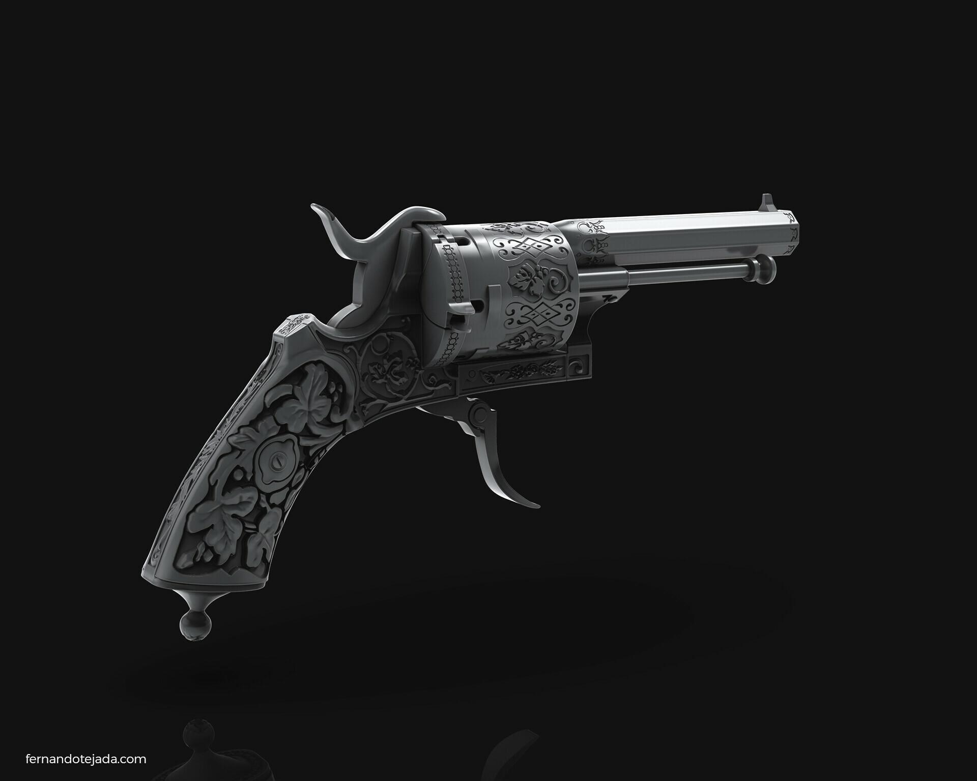 Vintage french revolver 6