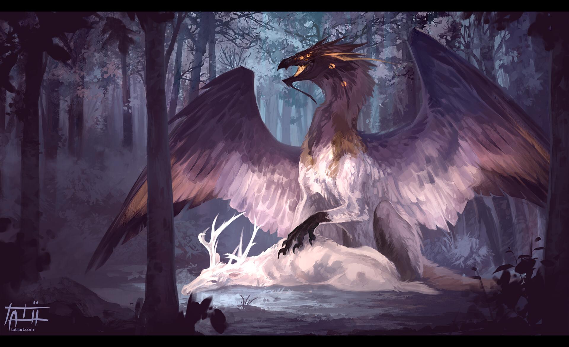 Tatii lange angel dragon small