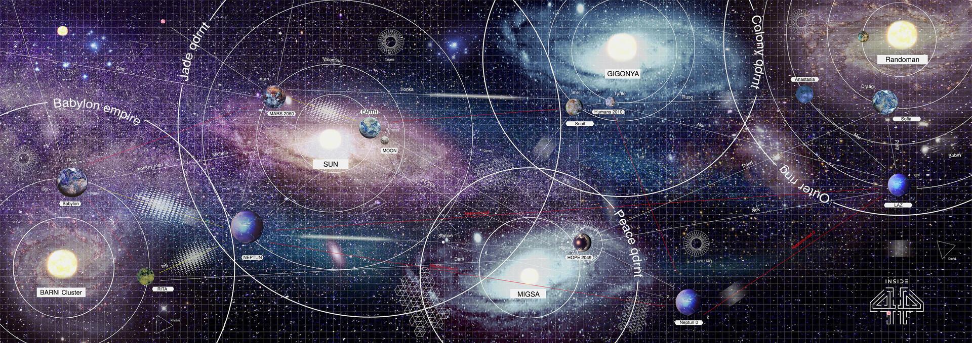 INSIDE 44 universe map