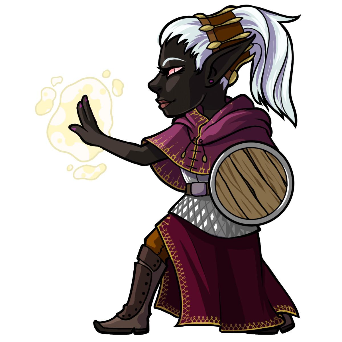 Halix Ilex, a drow cleric.