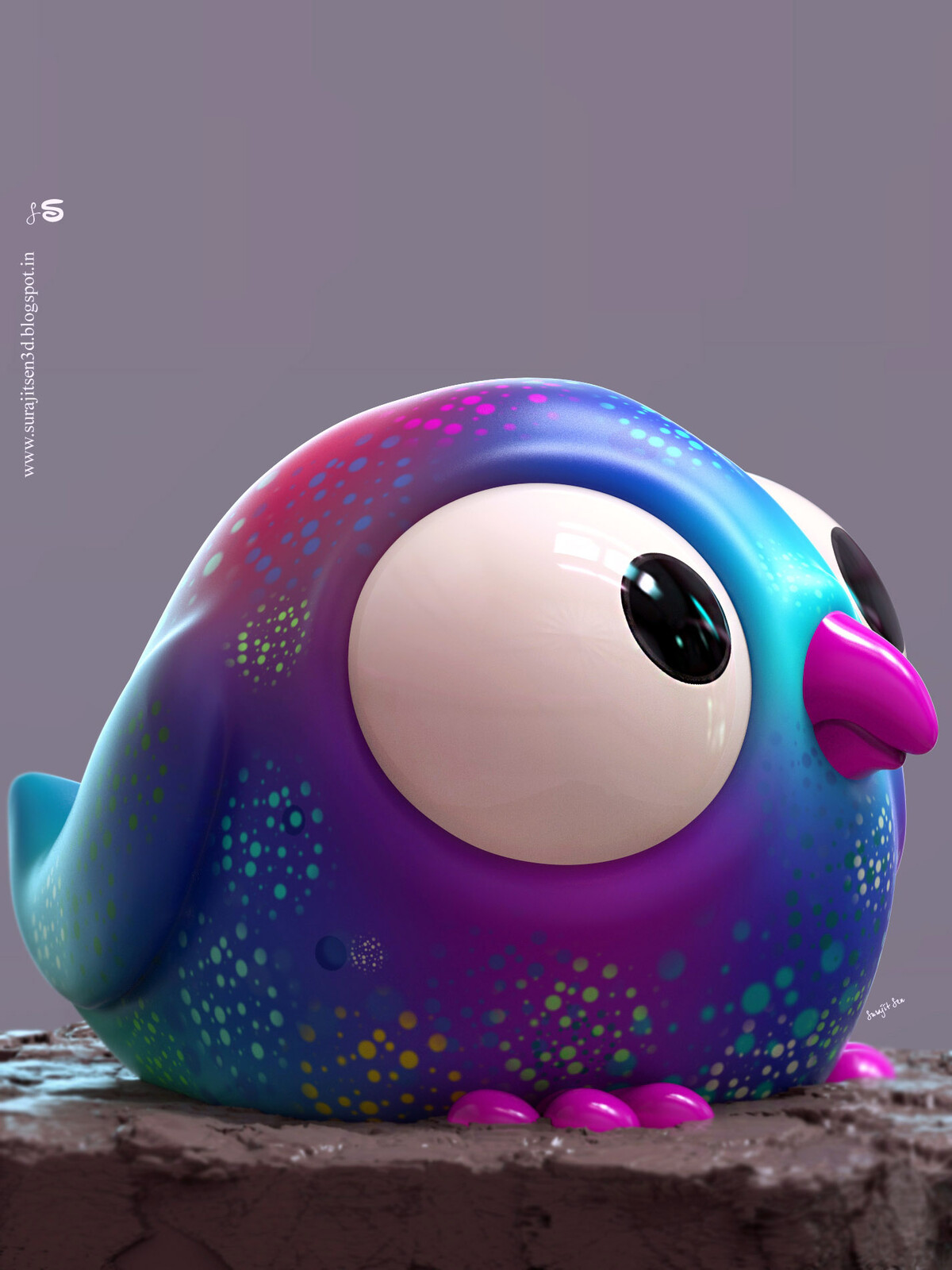 Bobo. A CG bird. 