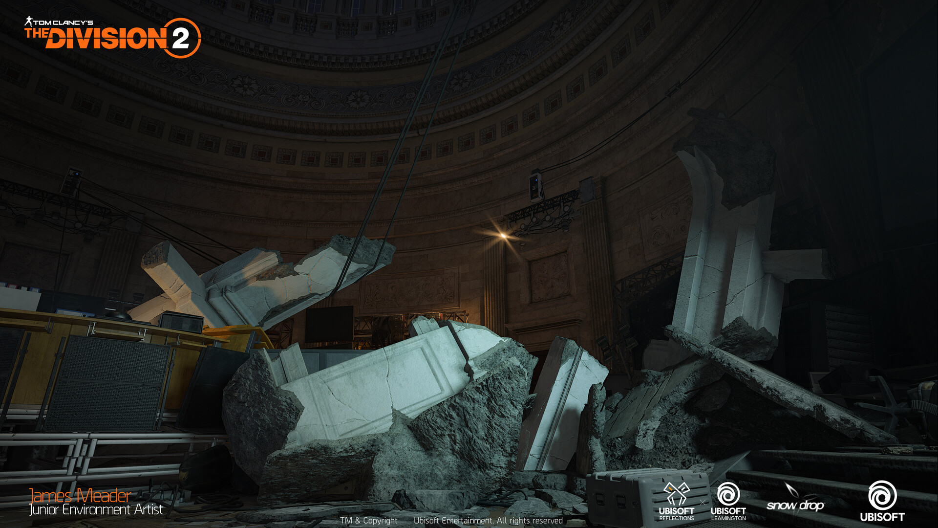 I was tasked to create the destruction debris of the US capitol Rotunda.