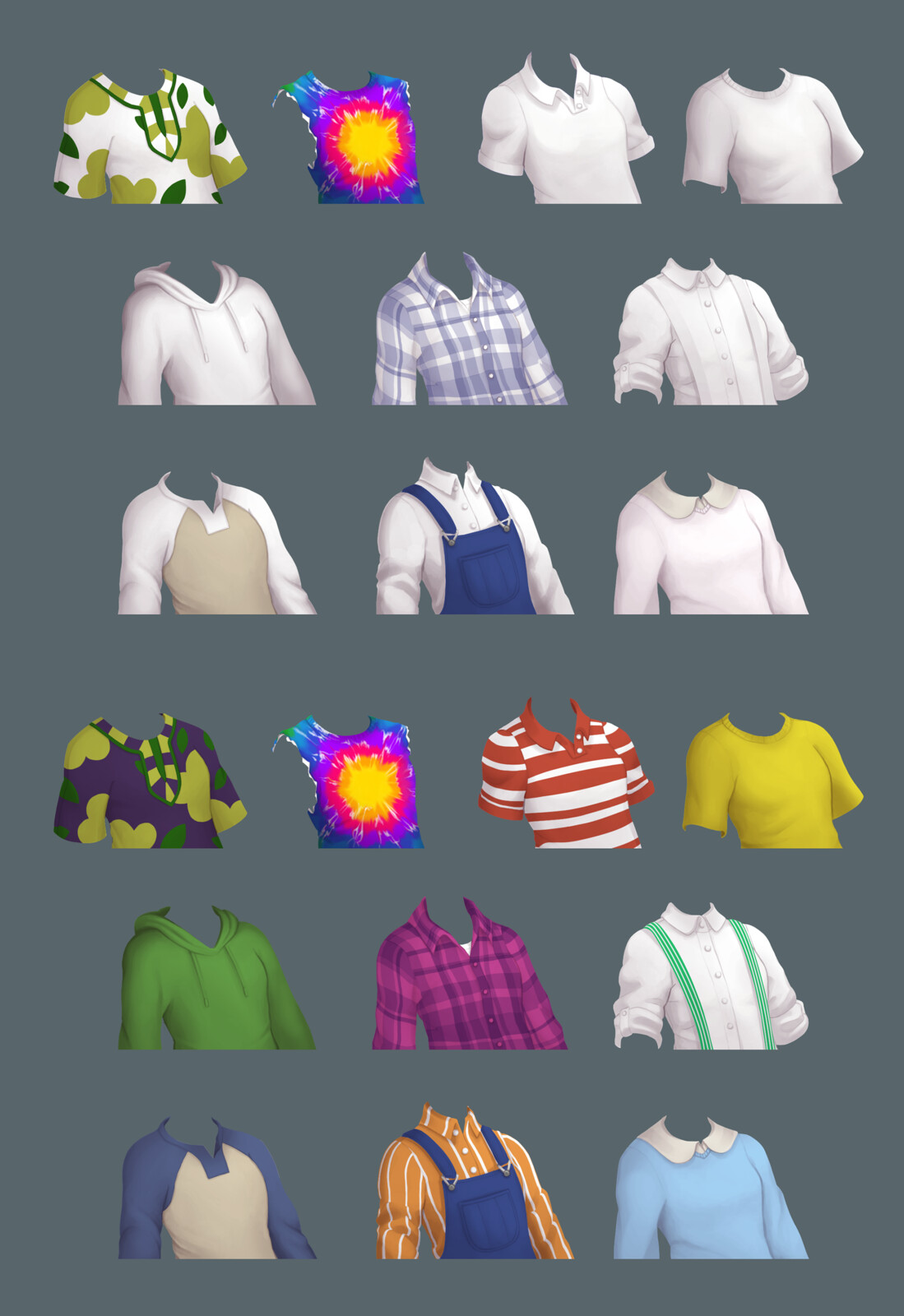 Selection of clothing items