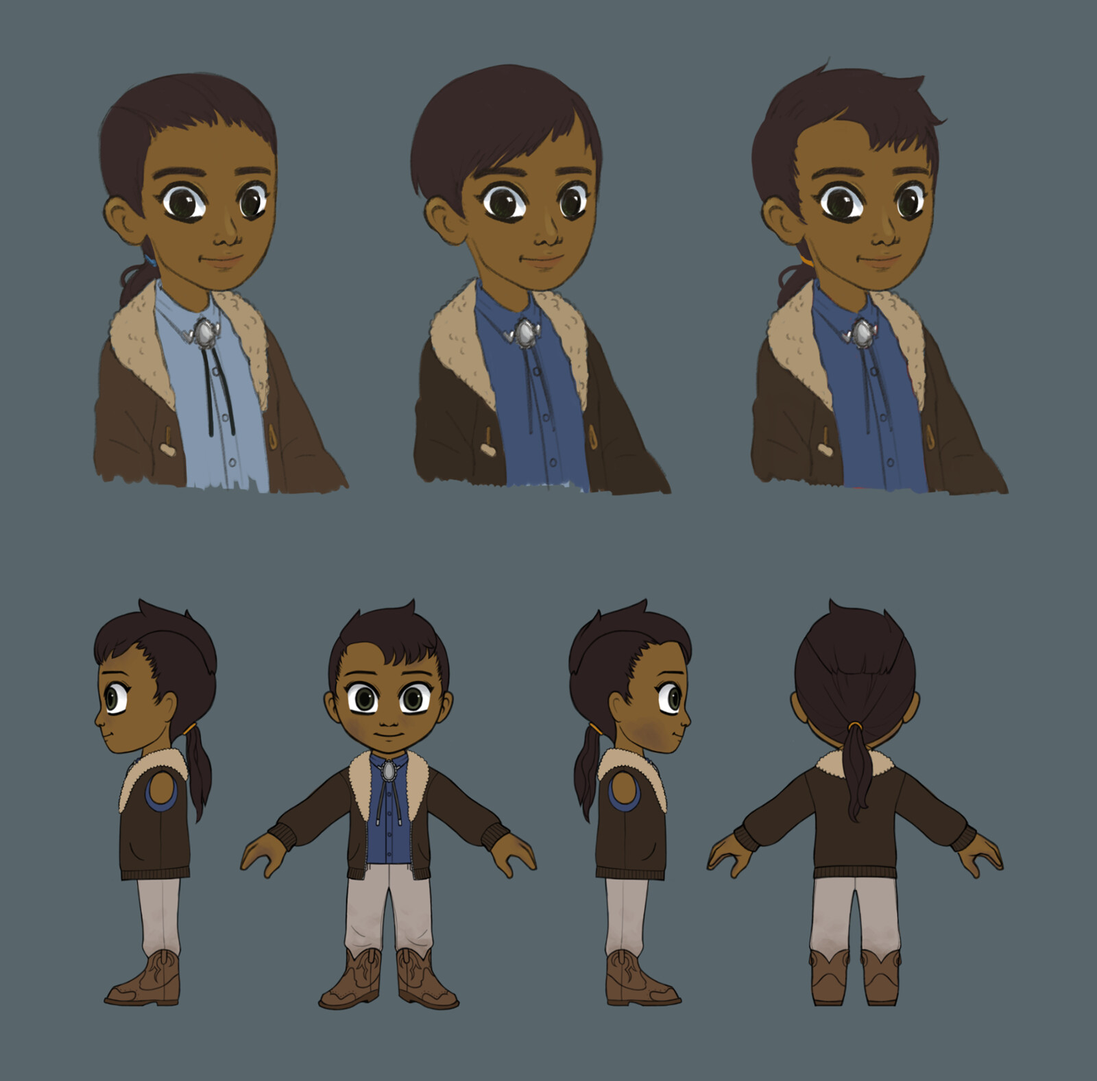Player's other friend - preliminary concepts and final turnaround