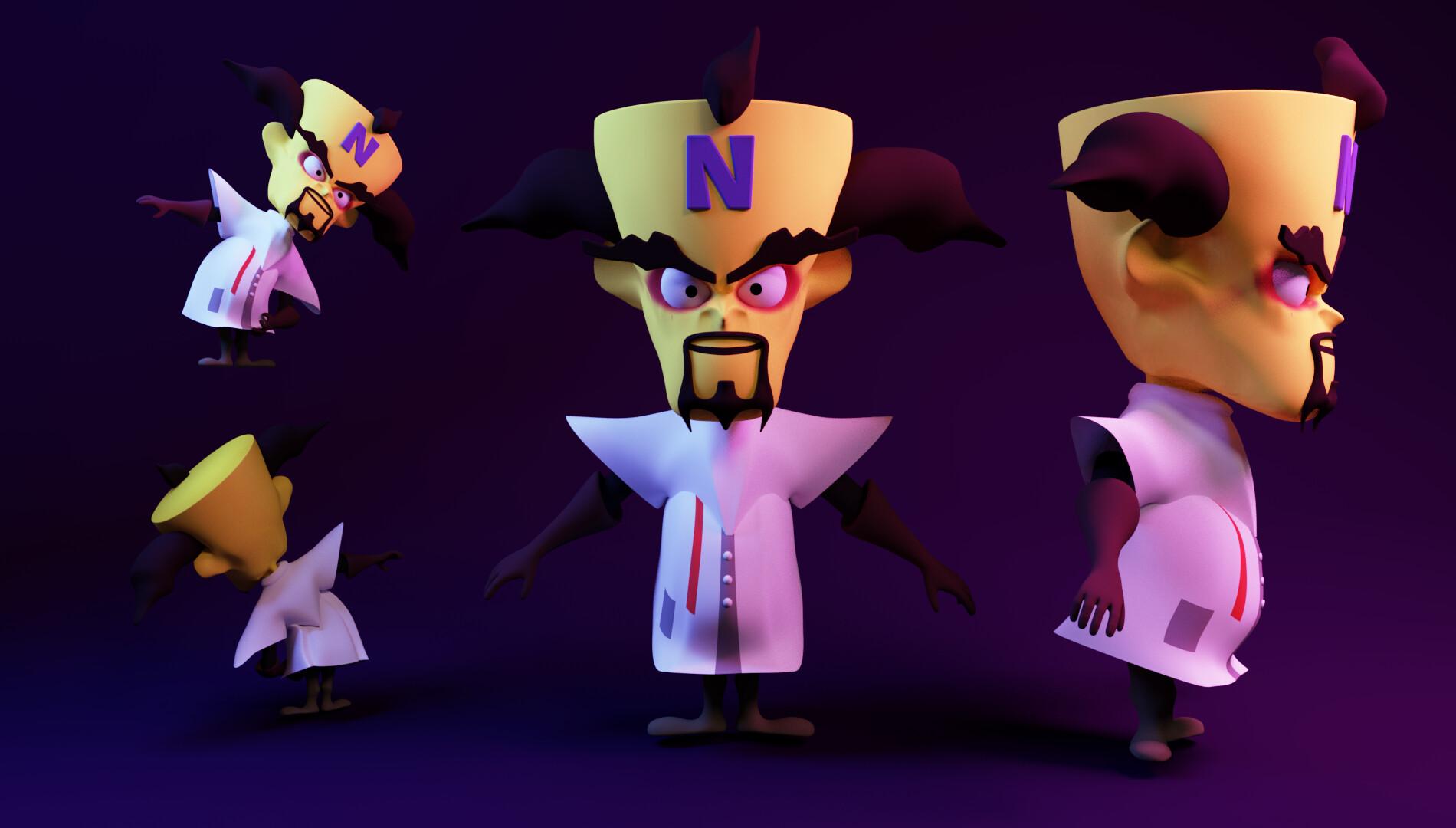 Artstation Villains Of Crash Bandicoot Caio Araujo