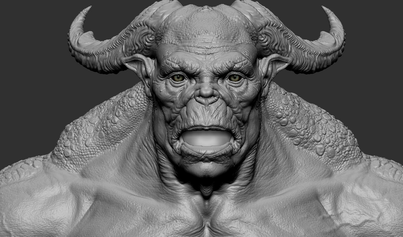 Character started out as a Zbrush Sculpting exercise.