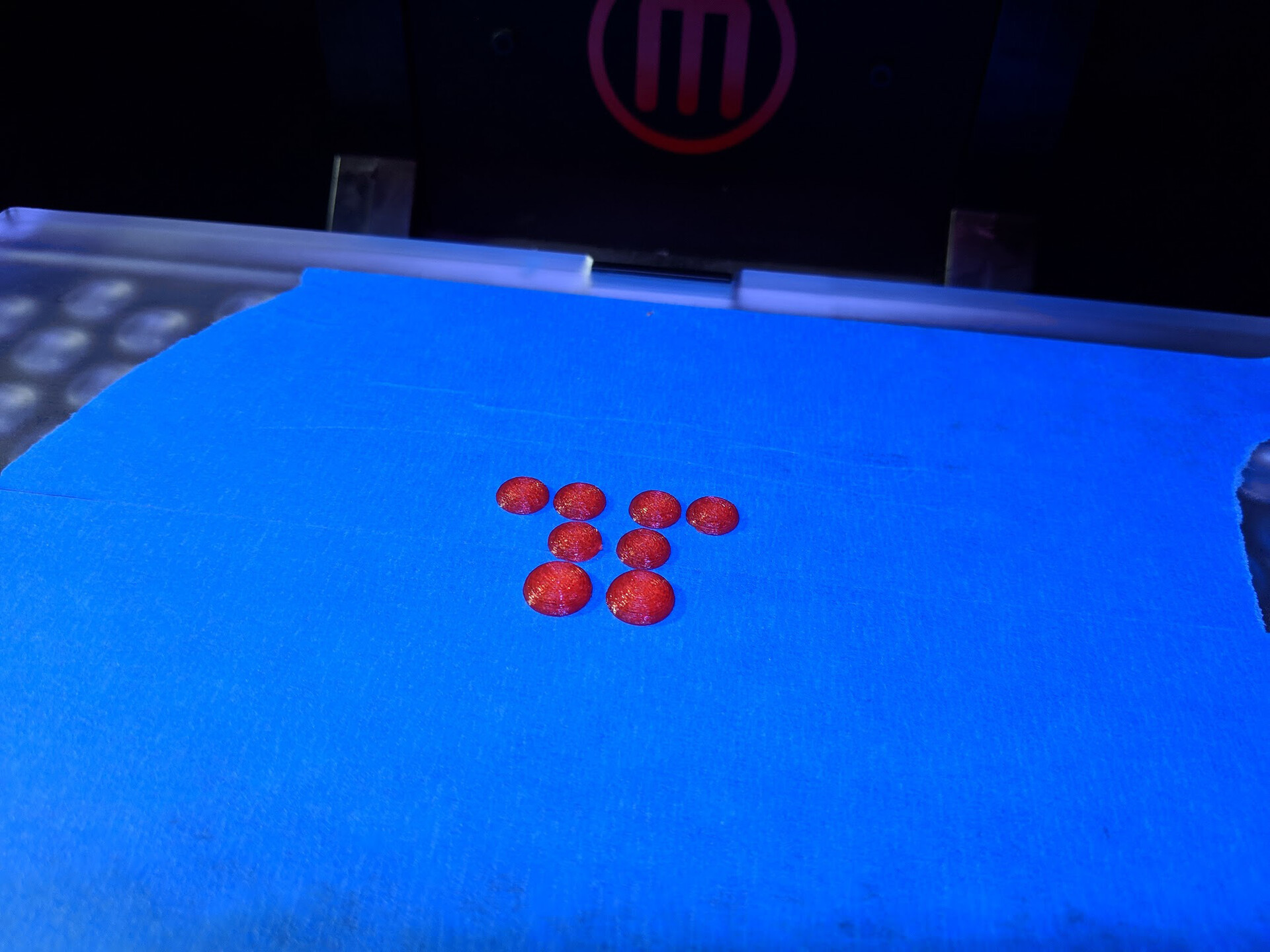 Translucent printing of lights on Replicator 2. Orange, Red, and Natural were used