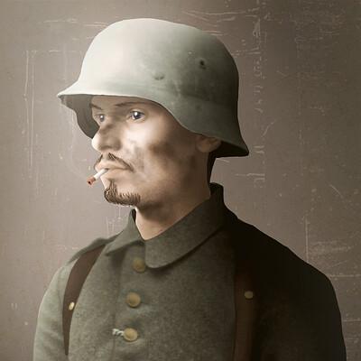 Tristan minet german soldier
