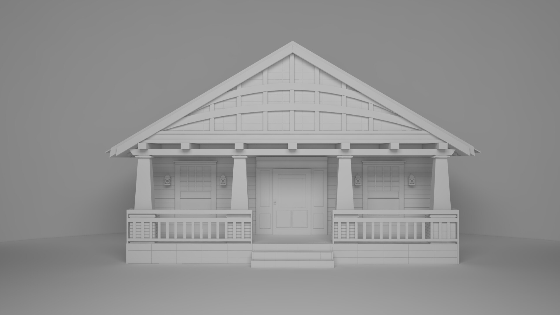 Artstation Simple American Style House Design Dimitar