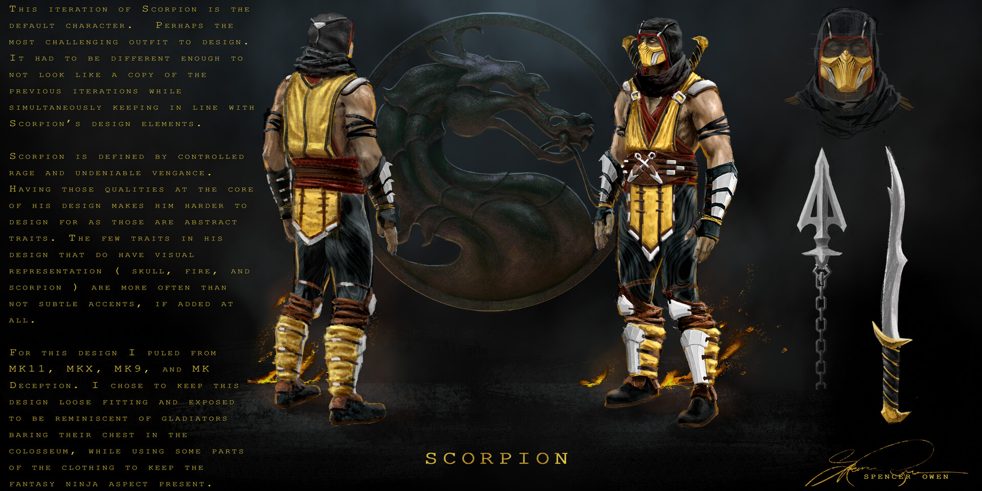 Artstation Scorpion Concepts Fan Art Spencer Owen