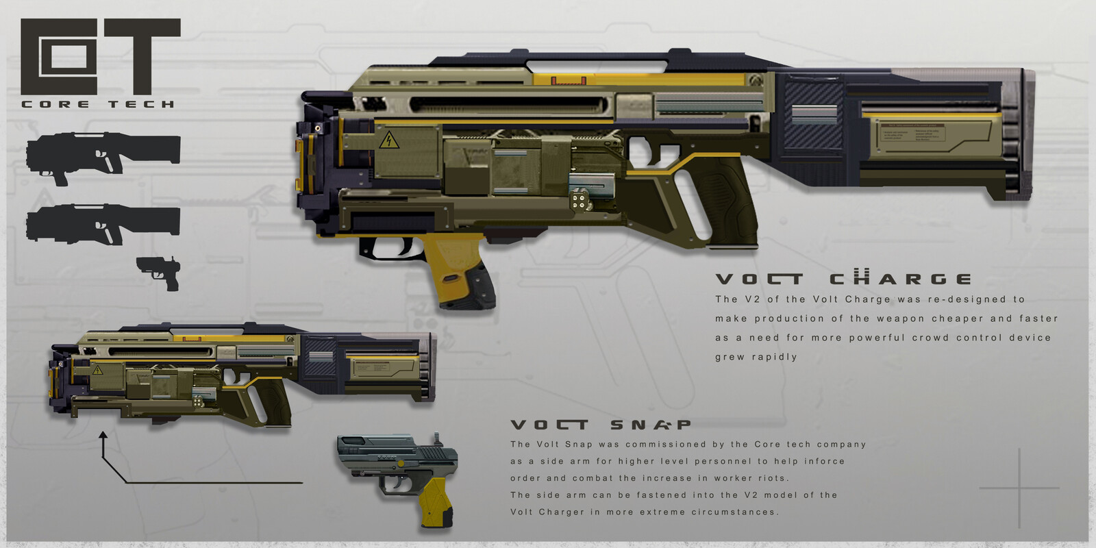 Volt Charge and Snap weapon design