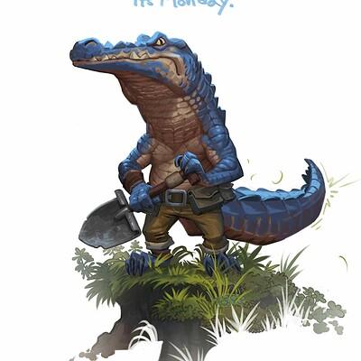 Td chiu aligator character w