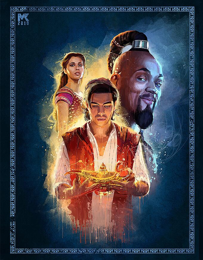 Artstation aladdin 2019 splash art mayank kumarr - Aladdin 2019 poster ...