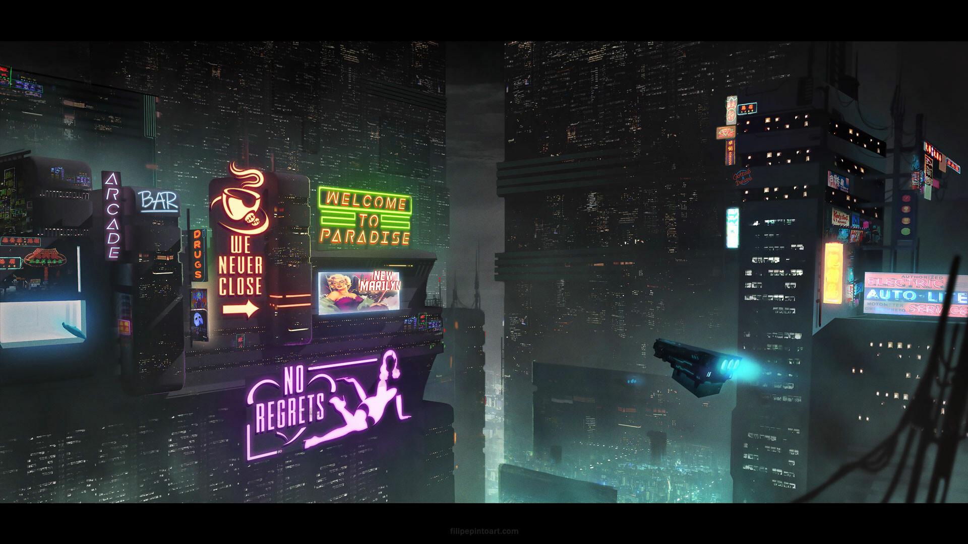 Filipe pinto cyberpunk city1080