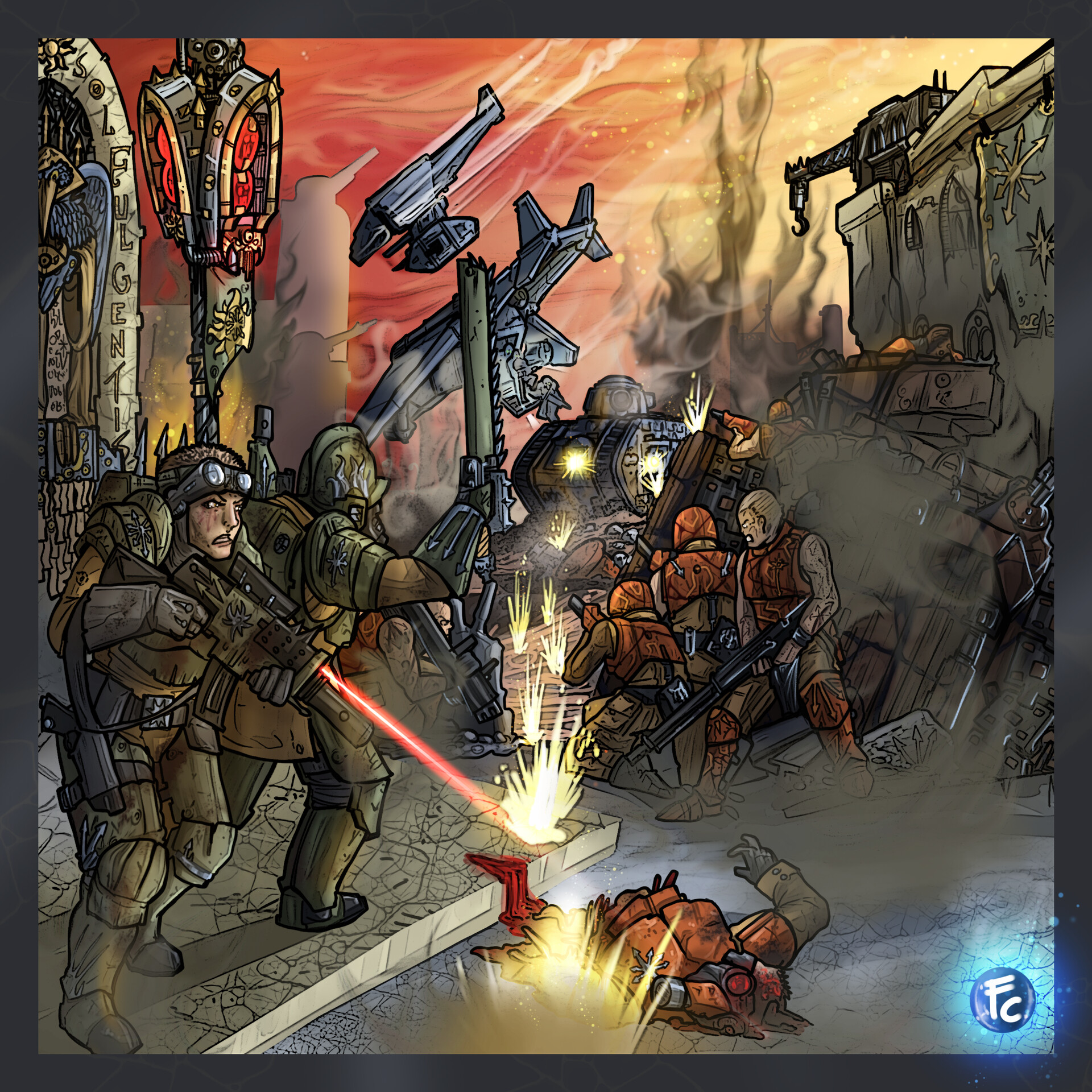 Imperial Guard vs Chaos Scums