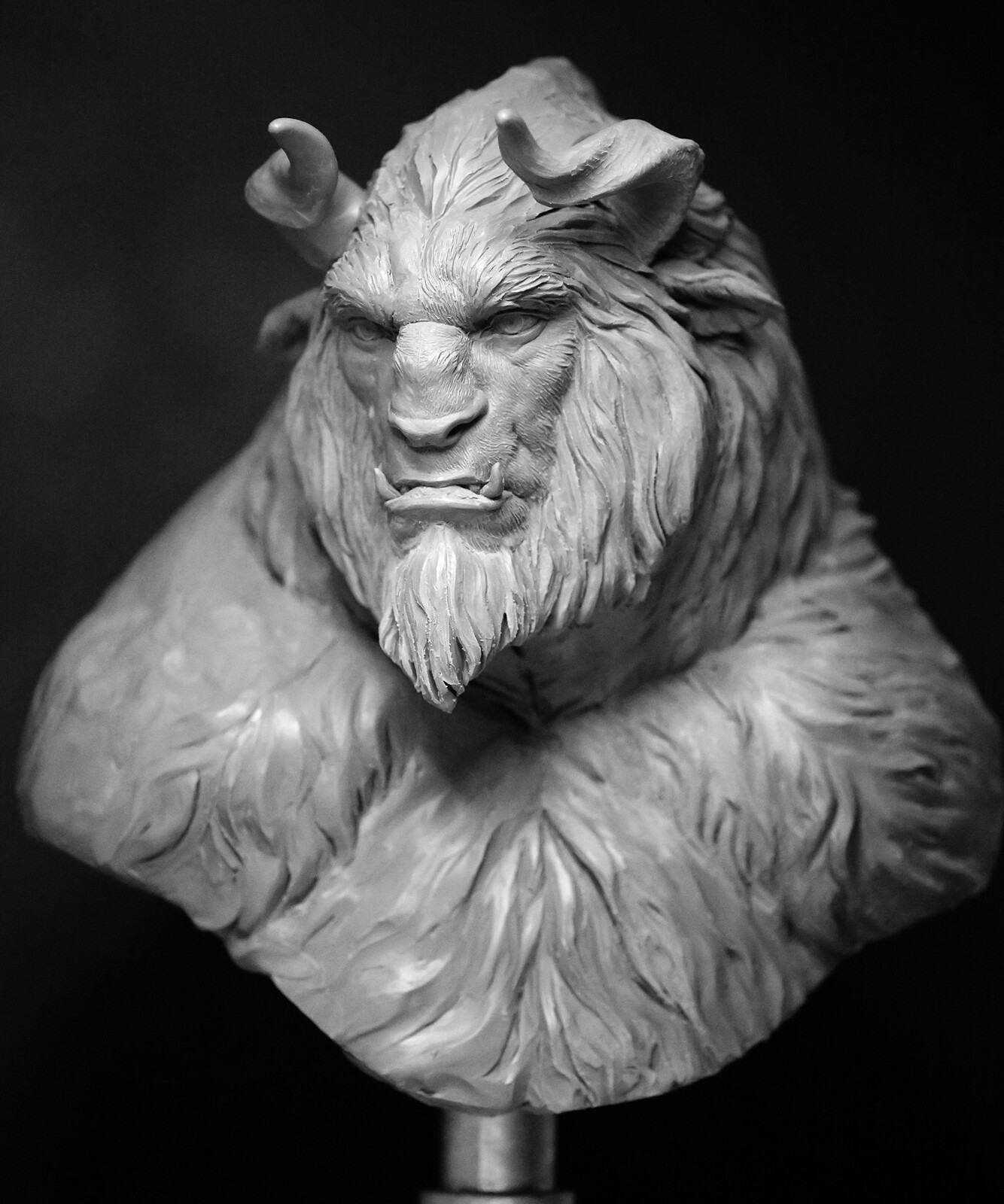 Beast Concept Bust wip