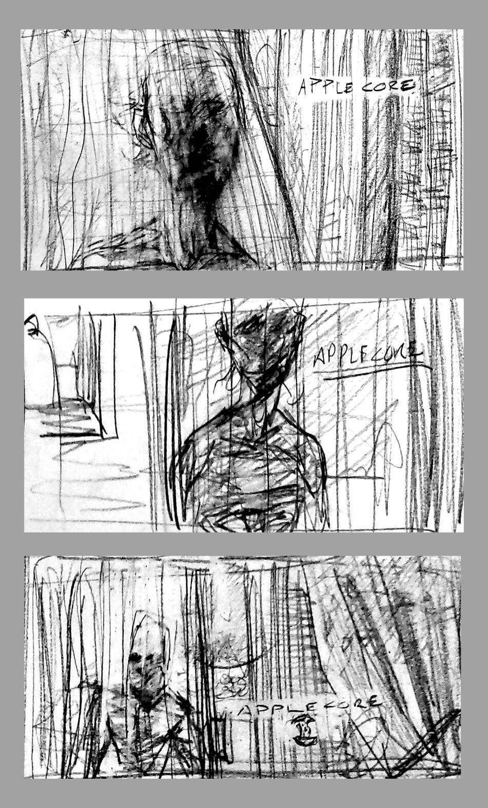 Initial sketch for framing