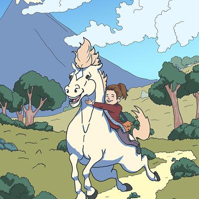 Okan bulbul girl and horse 004