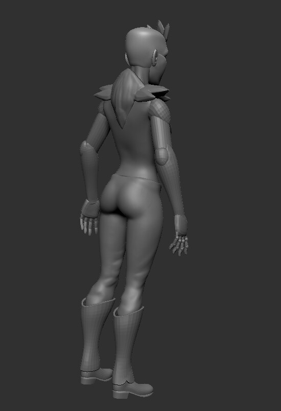 Sculpted main details on non-posed mesh.