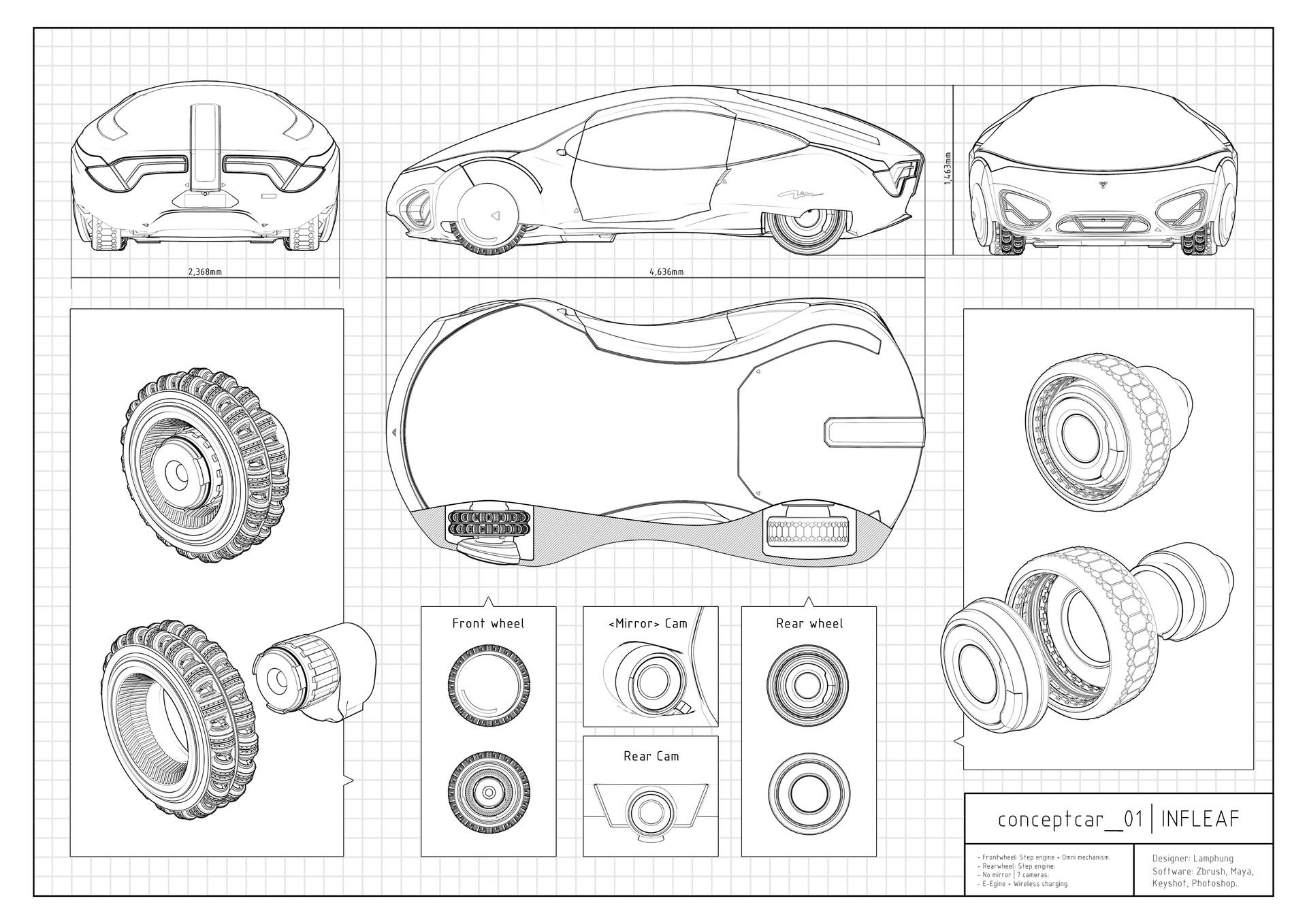 Lâm Phùng - Concept car 01 Blueprint